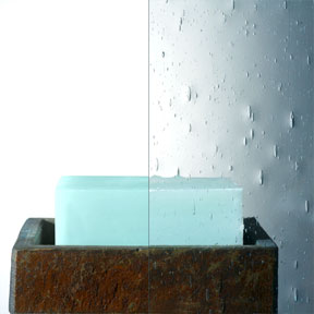 Seeded Glass Waterfall Bath Enclosures
